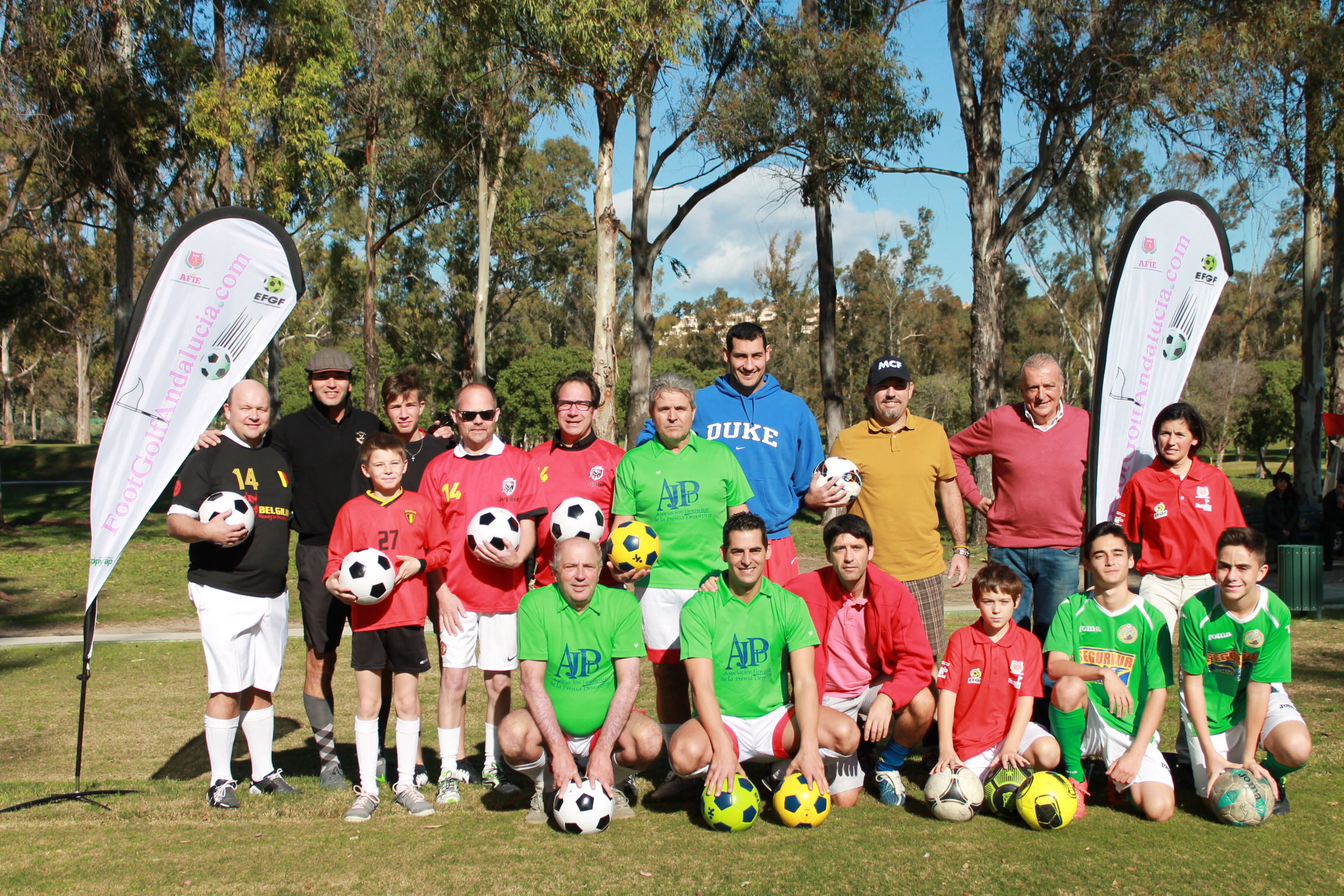 clinic footgolf periodistas y deportistas atalaya golf afies andalucia